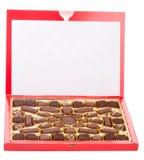 chocolats de cadre rouges Images libres de droits