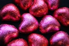 Chocolats de coeur d'amour Photographie stock