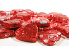 Chocolats de coeur de jour du ` s de Valentine image libre de droits