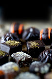 Chocolats de luxe de liqueur II Photo stock