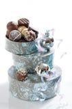 Chocolats de luxe de Noël Photographie stock libre de droits