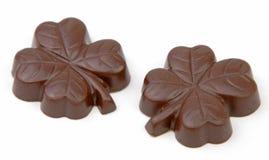 Chocolats de trèfle Image stock