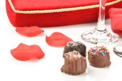 Chocolats de valentines Photo libre de droits