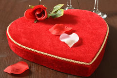 Chocolats de valentines Photos libres de droits