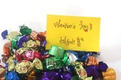 Chocolats du jour des femmes Photo stock