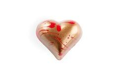 Chocolats en forme de coeur Images libres de droits