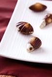 Chocolats fins photographie stock