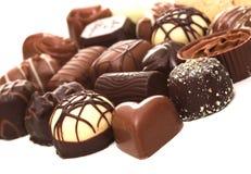 Chocolats mélangés Images stock