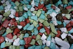 Chocolats sucrés et pralines mous colorés multi Image libre de droits