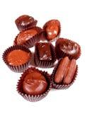 Chocolats sur le blanc 1 Image stock