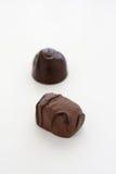 Chocolats sur le fond blanc photo stock