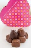 Chocolats sur le fond blanc Images stock