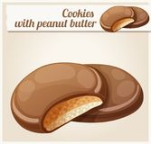 Chocolaty coating covered cookies Stock Image