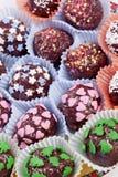 chocolote pralines wybór zdjęcie royalty free