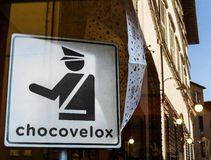 Chocovelox shop Stock Photography