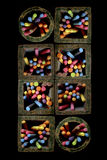 Chocs de craie Photo libre de droits