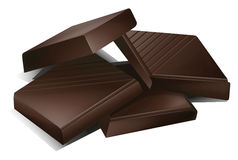 A chocs. Illustration of a chocs on a white background Stock Image