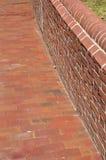 chodniczek ceglana ściana zdjęcie stock