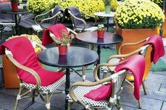 Chodniczek kawiarnia Zdjęcia Royalty Free