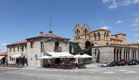 Chodniczek kawiarnia w Avila, Hiszpania Obraz Stock
