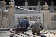Chodniczków odświeżań Pekin Confucius świątynia Obrazy Stock