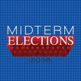 Chodnikowiec lub sztandar na połowa semestru wyborach trzymających na 2018 ilustracja wektor