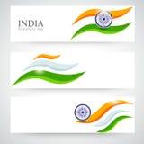 Chodnikowiec lub sztandar ustawiający dla Indiańskiego republika dnia świętowania Obrazy Royalty Free