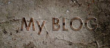 Chodnikowiec osobisty blog Zdjęcie Royalty Free