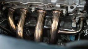 Chodnikowiec rura wydechowa w samochodzie Fotografia Stock
