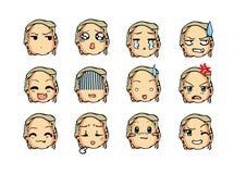 Chłodno emoticon styl Zdjęcie Stock