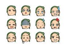 Chłodno emoticon styl Fotografia Royalty Free
