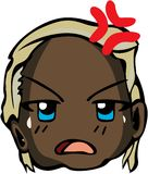 Chłodno emoticon styl Obraz Royalty Free