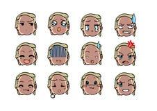 Chłodno emoticon styl Zdjęcia Stock
