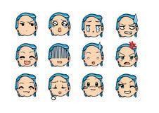 Chłodno emoticon styl Zdjęcie Royalty Free