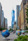 Chłodno kule ziemskie w Manhattan Zdjęcia Royalty Free