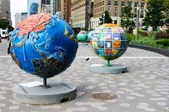 Chłodno kule ziemskie w Manhattan Zdjęcie Royalty Free