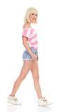 Chodząca dziewczyna Zdjęcie Stock