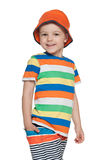 Chodząca mody chłopiec fotografia stock