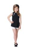 Chodząca mody mała dziewczynka zdjęcia royalty free