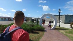 Chodząca synklina fortyfikował część port, Bermuda wyspa, Bermuda wyspy, północnego atlantyku ocean zbiory