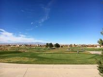 Chodzącego kija pole golfowe, osada obrazy stock