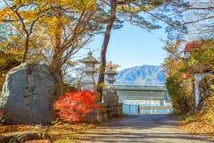 Chodzący kurs Jeziorny Kawaguchi zdjęcia royalty free