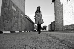 Chodząca dziewczyna Obraz Royalty Free