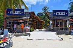 Chodząca ulica Railay wioska Fotografia Royalty Free