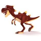 Chodzący Dinosaurus patrzeje szalenie Zdjęcia Stock