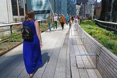 Chodzący na Wysokiej linii, Manhattan Fotografia Stock