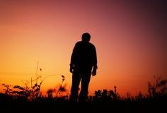 Chodzący samotny Fotografia Stock