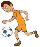 Chodzenie futbolowa piłka ilustracja wektor