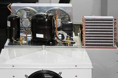 Chłodzenie kompresoru jednostka Zdjęcia Royalty Free
