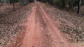 Chodzić przez żwir drogi w wiejskim krajobrazie zdjęcie wideo